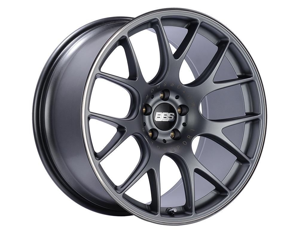 BBS CH-R Wheel 19x9 5x130 53mm Titanium | Polished Rim