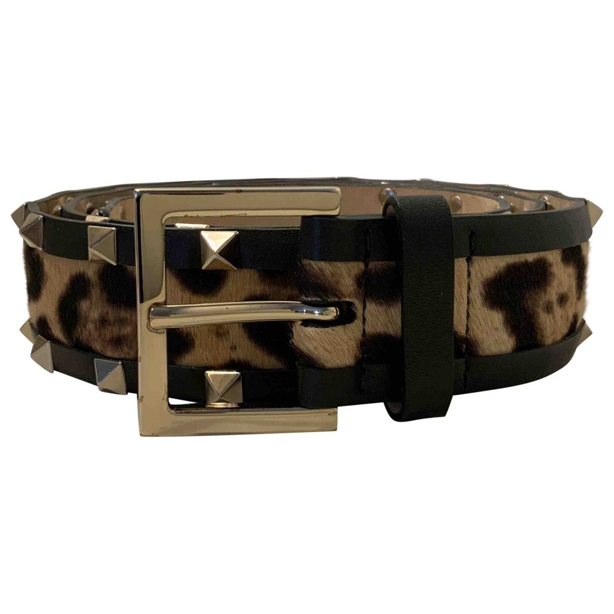 Valentino Garavani \N Brown Leather belt for Women 90 cm