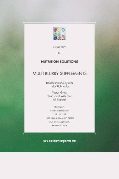 Health & Wellness 12x18 Poster, Home Décor -Blue Green Blurry