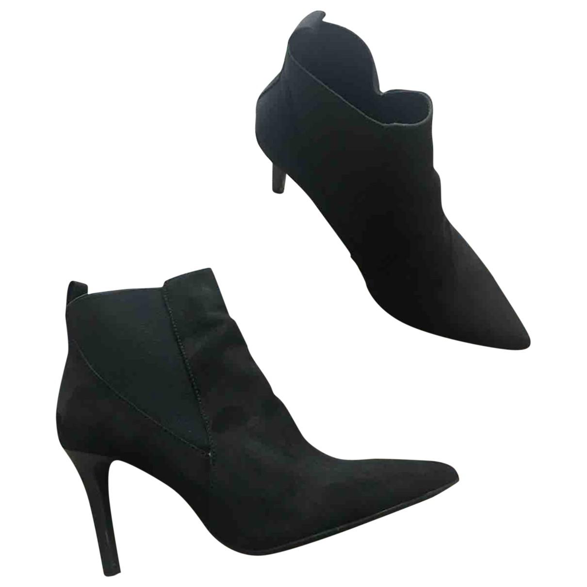 Mango \N Black Ankle boots for Women 37 EU
