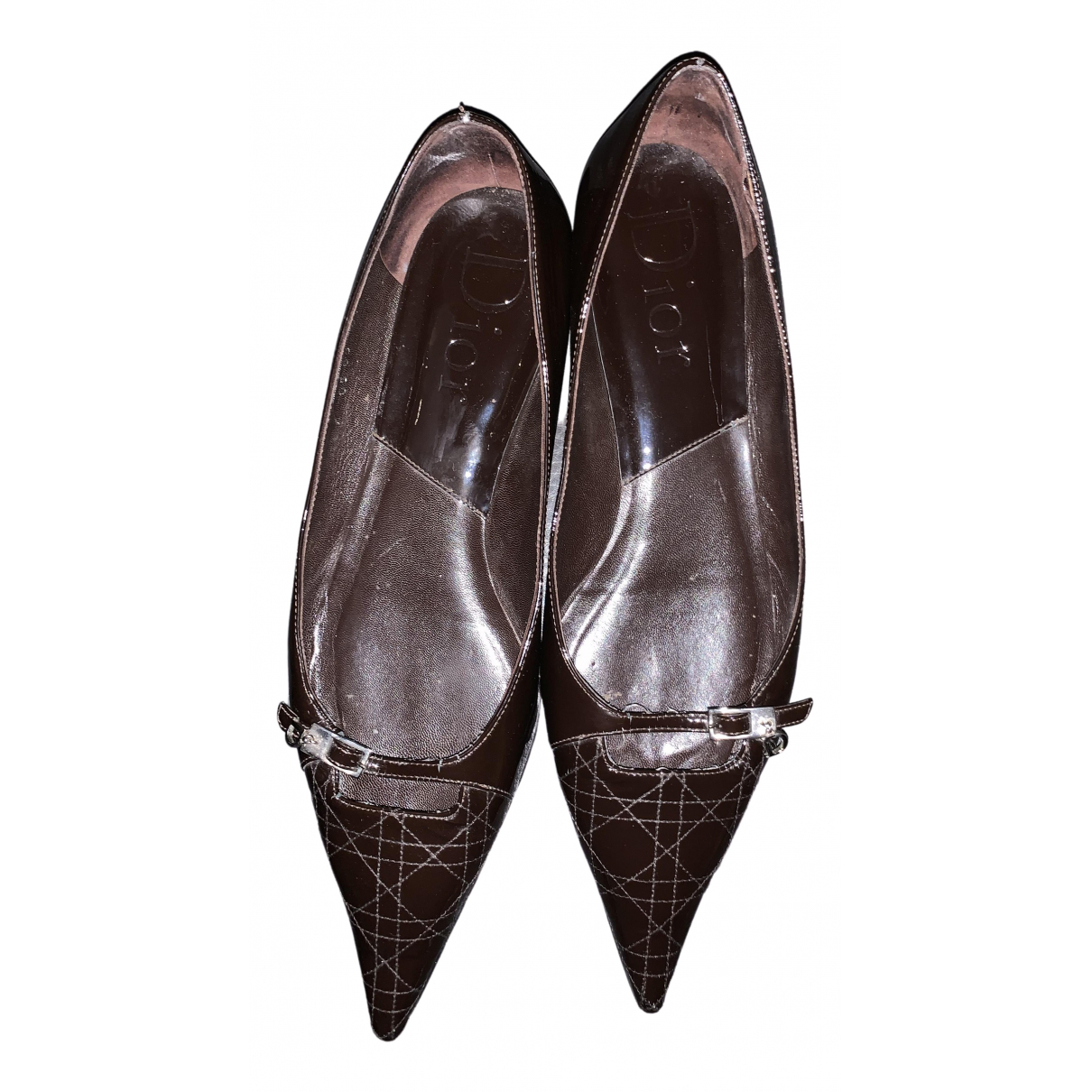 Dior \N Brown Patent leather Ballet flats for Women 40 EU