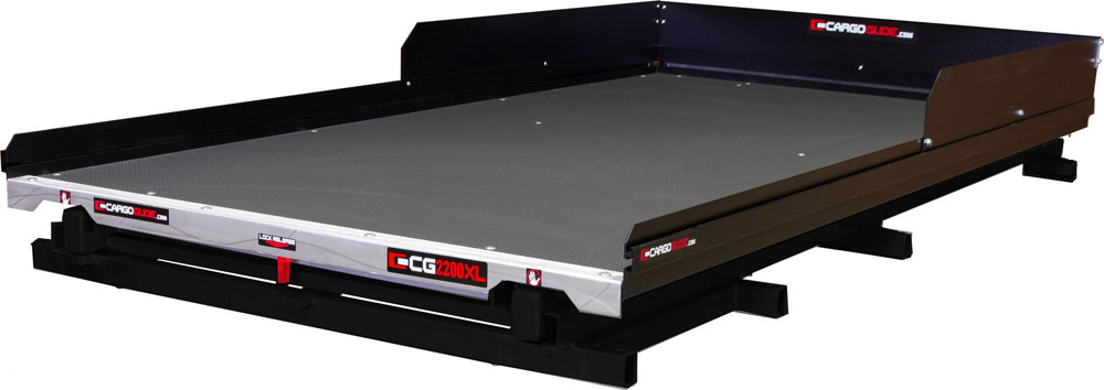 Low Profile Slide Out Truck Bed Tray 2200 lb capacity 100% Extension 22 Bearings  Alum Tie-Down Rails Plywood Deck Fits most 5.5-5.75FT Short Beds