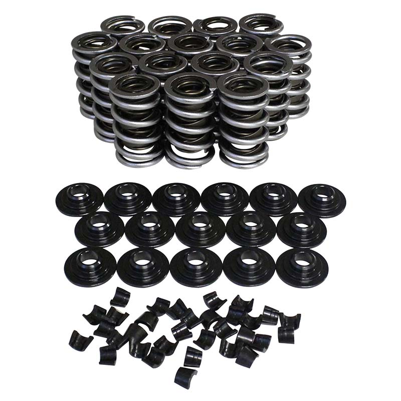 Electro Polished Performance Dual with Damper Valve Spring & Retainer Kit; 1.539 10 Degree Howards Cams 98652-K12 98652-K12