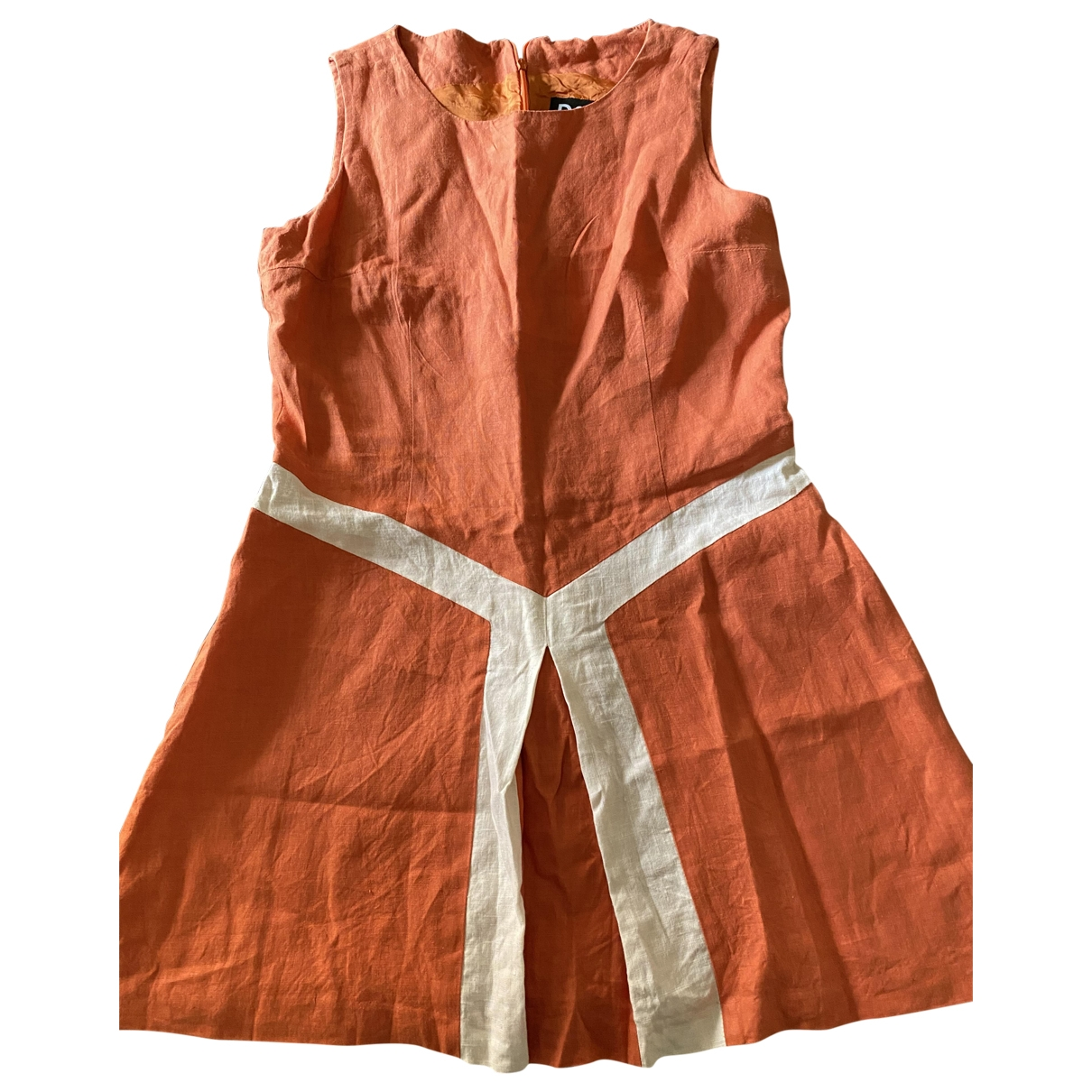 D&g \N Orange Linen dress for Women 44 IT