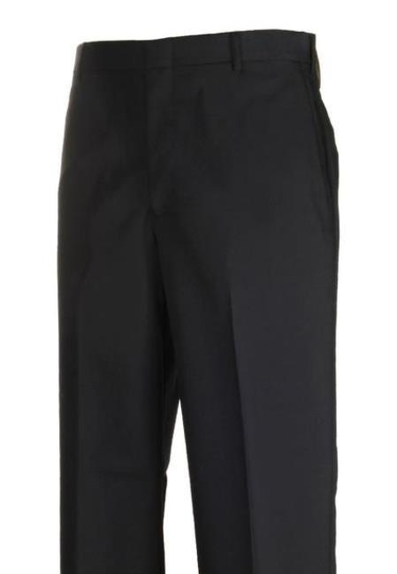 Navy Harwick Clothing Manufacturers In America Flat Front Dress Pants
