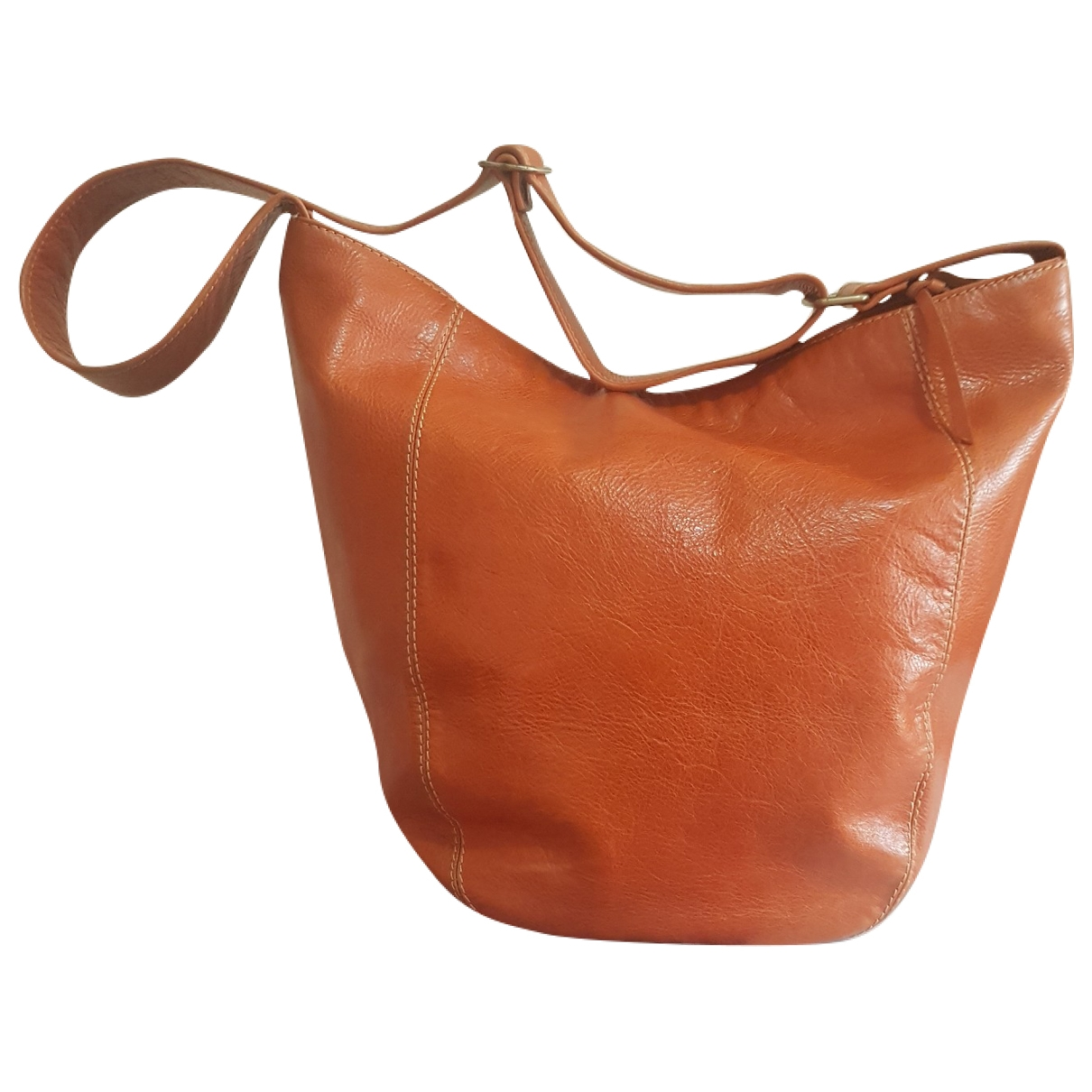 Non Sign?? / Unsigned \N Orange Leather backpack for Women \N