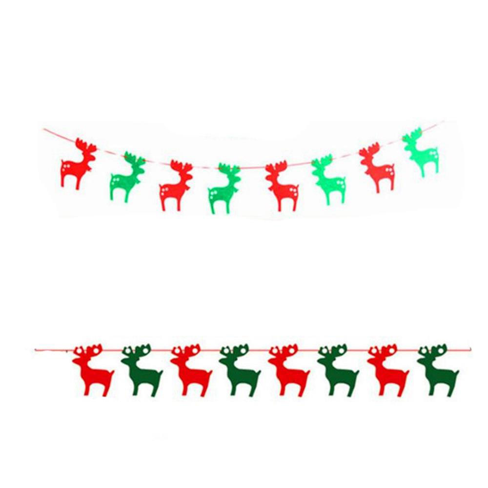 String Flags Hanging Flags for Christmas Decorations Shopping Malls - Christmas Deer