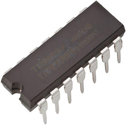 Toshiba TC4584BP(N,F), Hex Schmitt Trigger Inverter, 14-Pin PDIP (5)