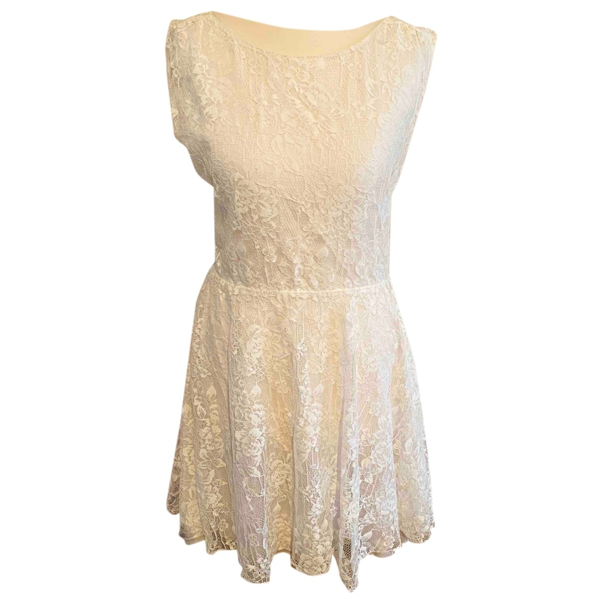 Alice & Olivia \N White Lace dress for Women 2 US