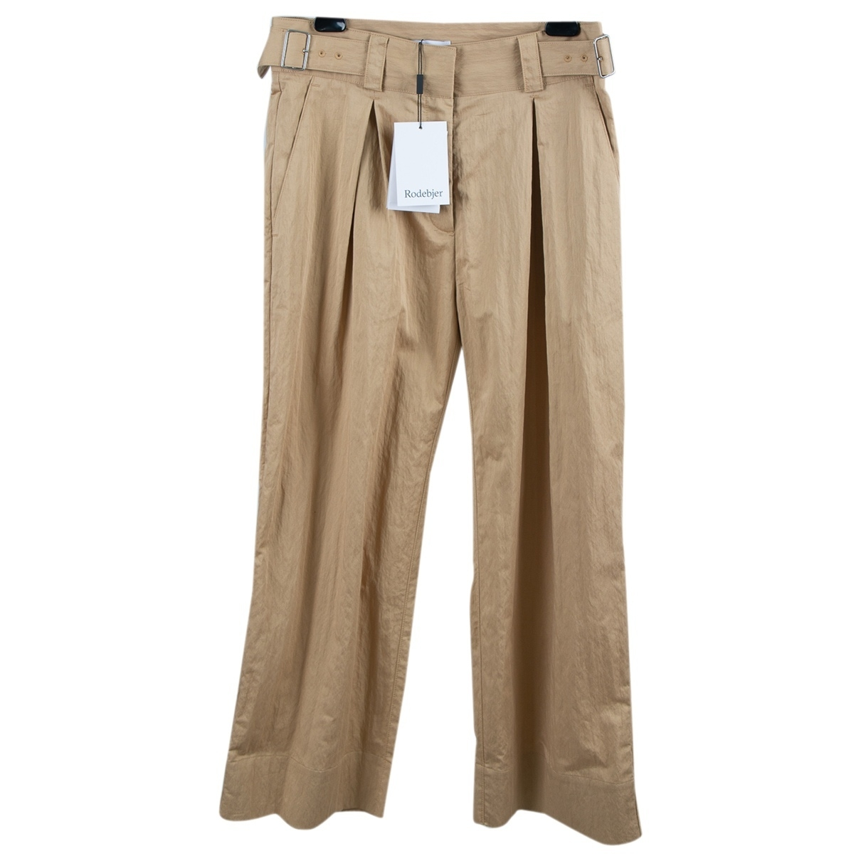 Rodebjer \N Beige Cotton Trousers for Women S International