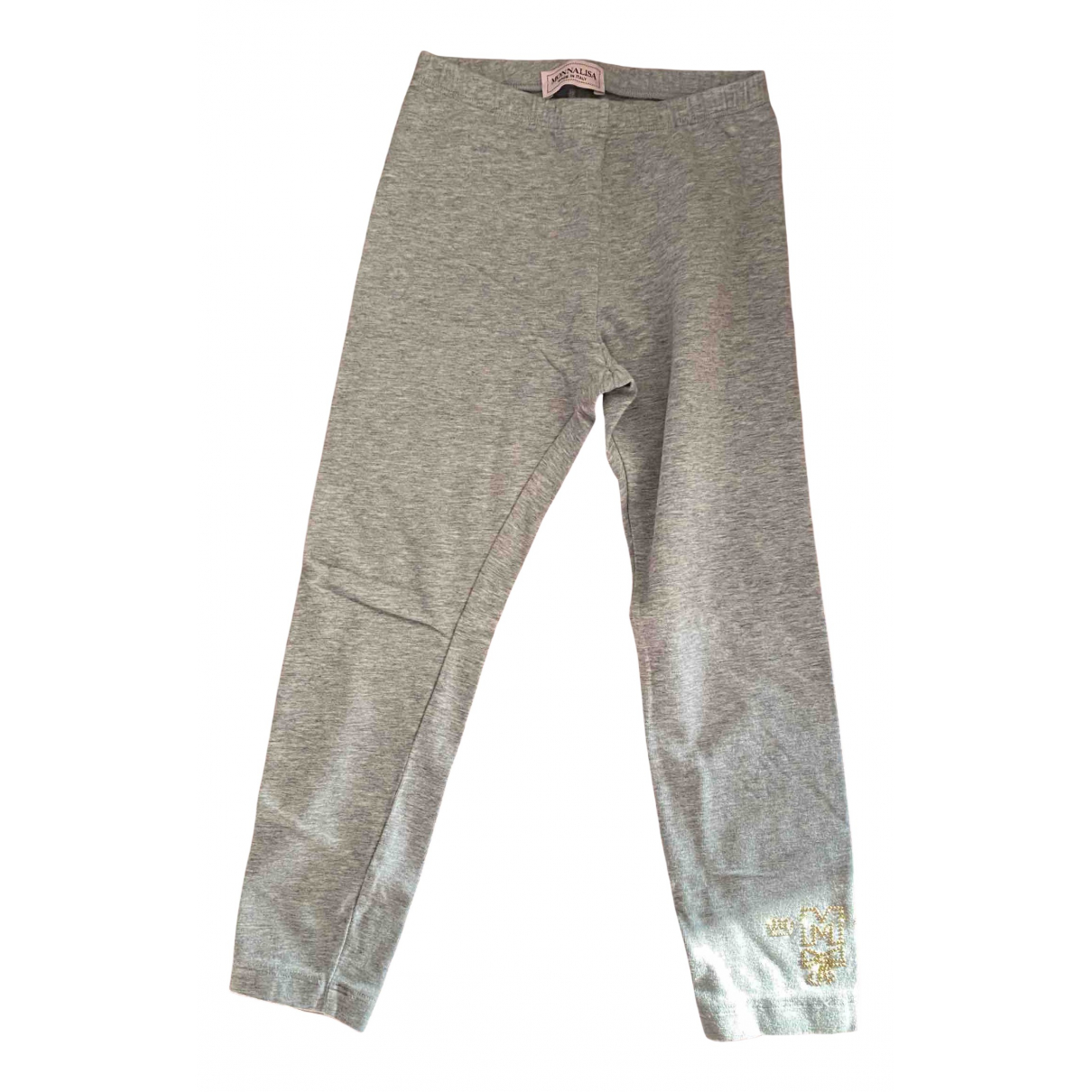 Monnalisa \N Grey Cotton Trousers for Kids 6 years - up to 114cm FR