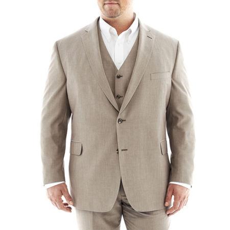J.F. J Ferrar End on End Suit Jacket—Big&Tall, 54 Big Short, Brown