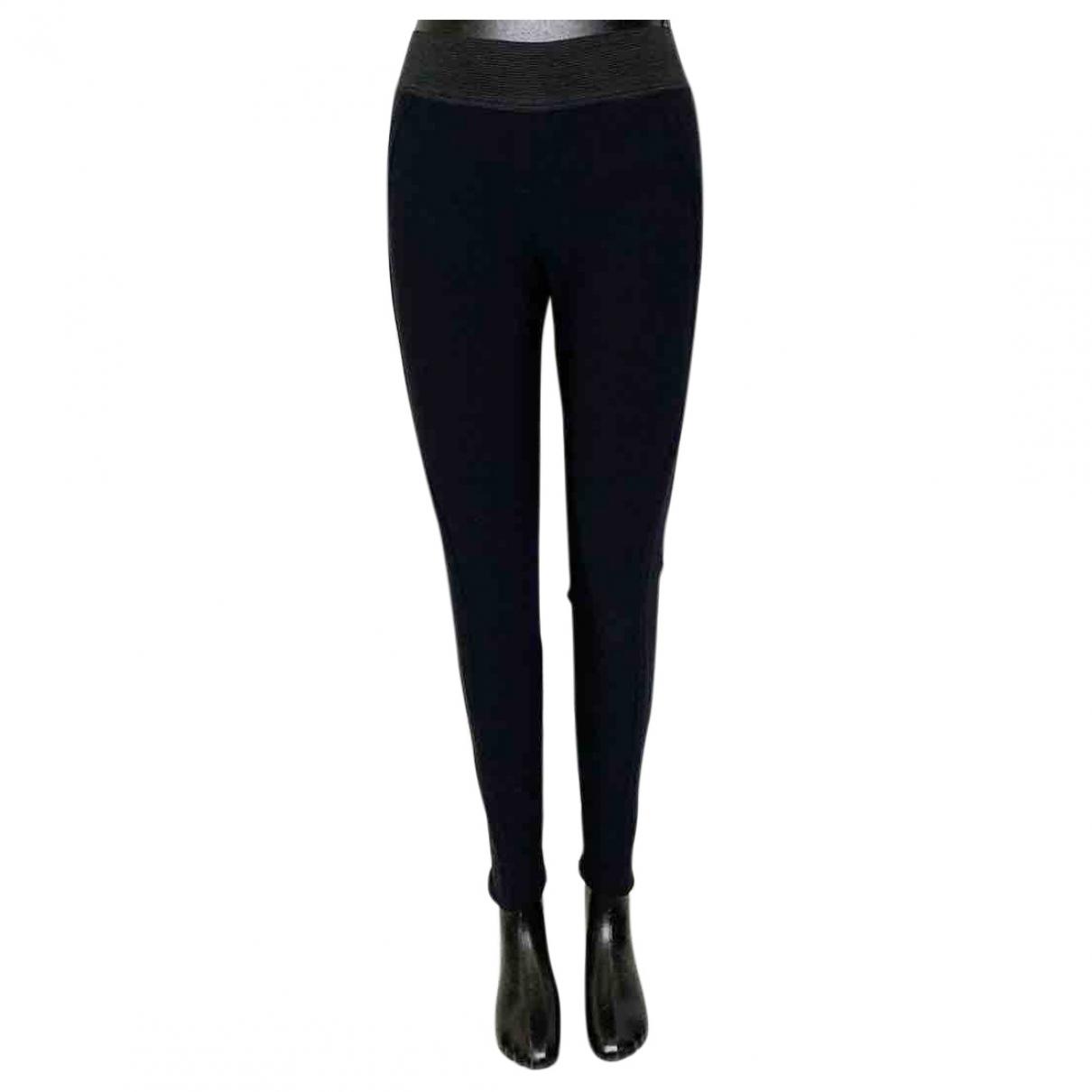 Stella Mccartney \N Navy Wool Trousers for Women 36 IT
