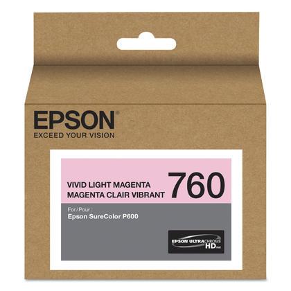 Epson 760 T760620 Original Vivid Light Magenta Ink Cartridge