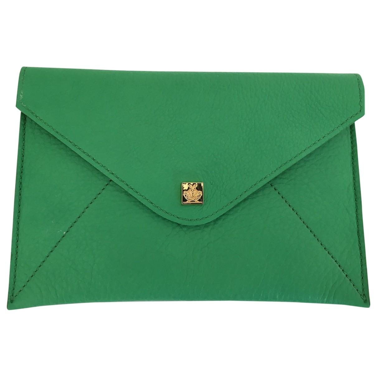 Giancarlo Petriglia \N Green Leather Clutch bag for Women \N