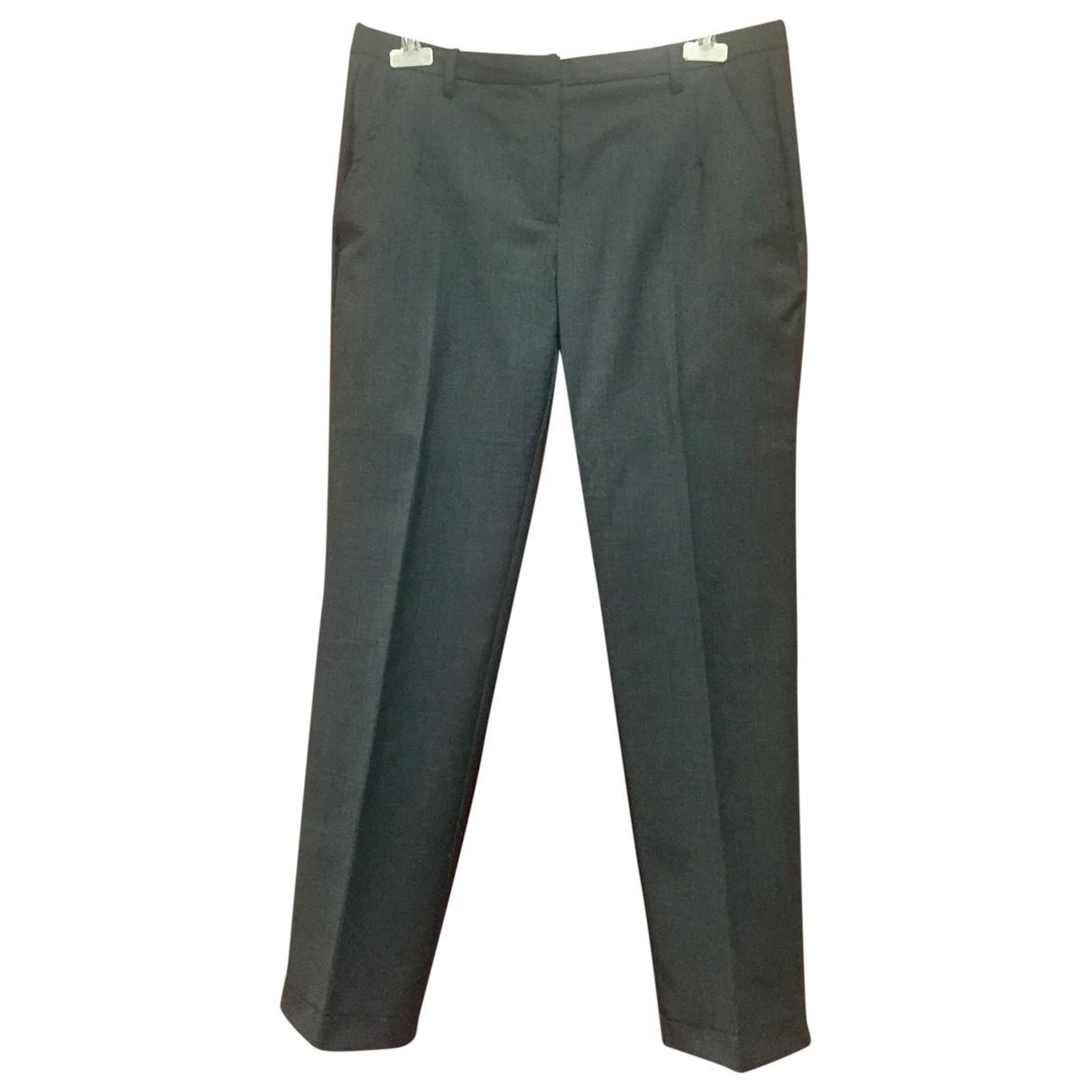 Merci \N Grey Wool Trousers for Women 42 IT