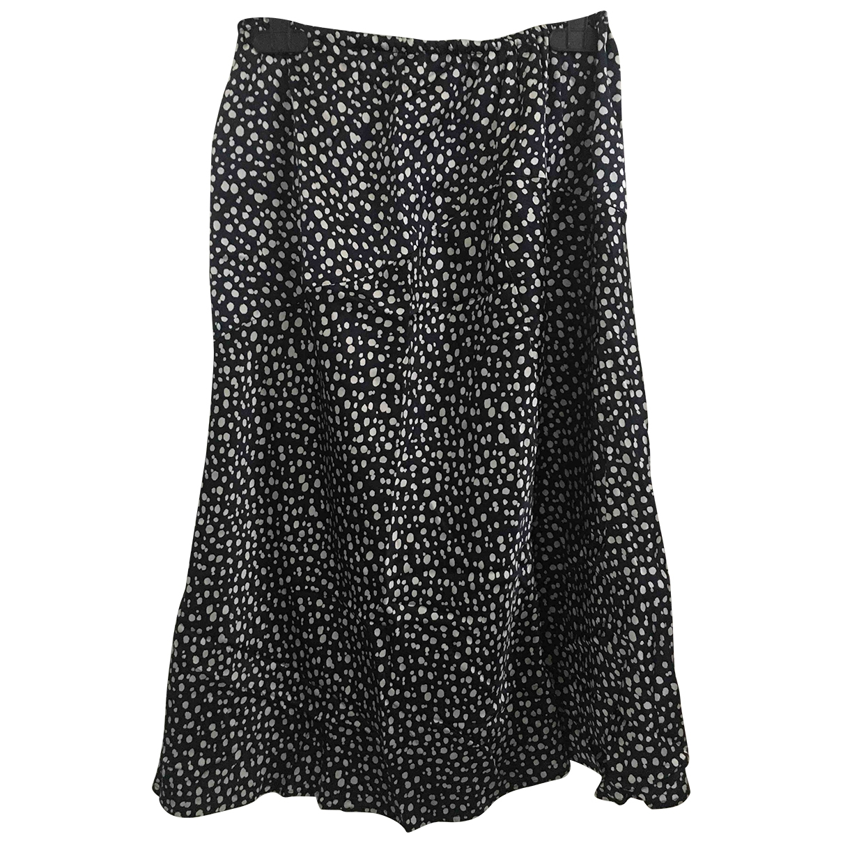 Non Signé / Unsigned \N Blue Silk skirt for Women 42 IT