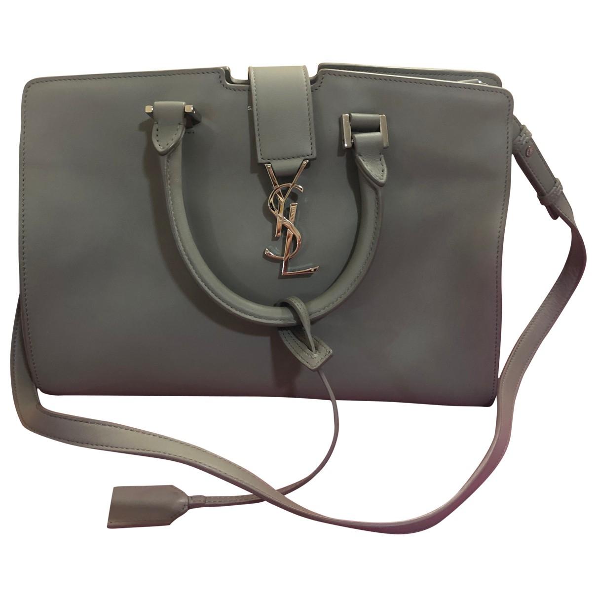 Saint Laurent Monogram Cabas Grey Leather handbag for Women \N