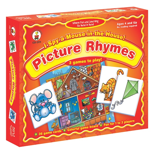 I Spy A Mouse In The House Picture Rhymes Board Game By Carson Dellosa | Michaels®