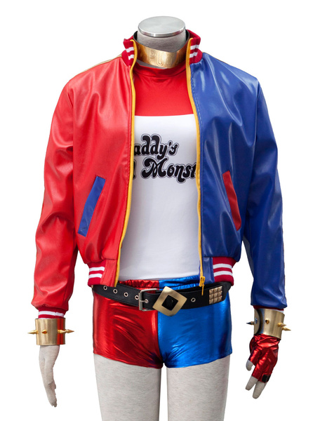 Milanoo Sucide Squad DC Comics Harley Quinn Cosplay Costume Halloween