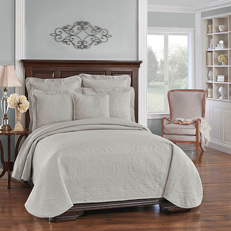 Historic Charleston Collection King Charles Matelassé Coverlet, One Size , Gray