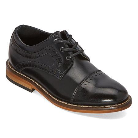Stacy Adams Toddler Boys Lil Dickinson Oxford Shoes, 8 Medium, Black