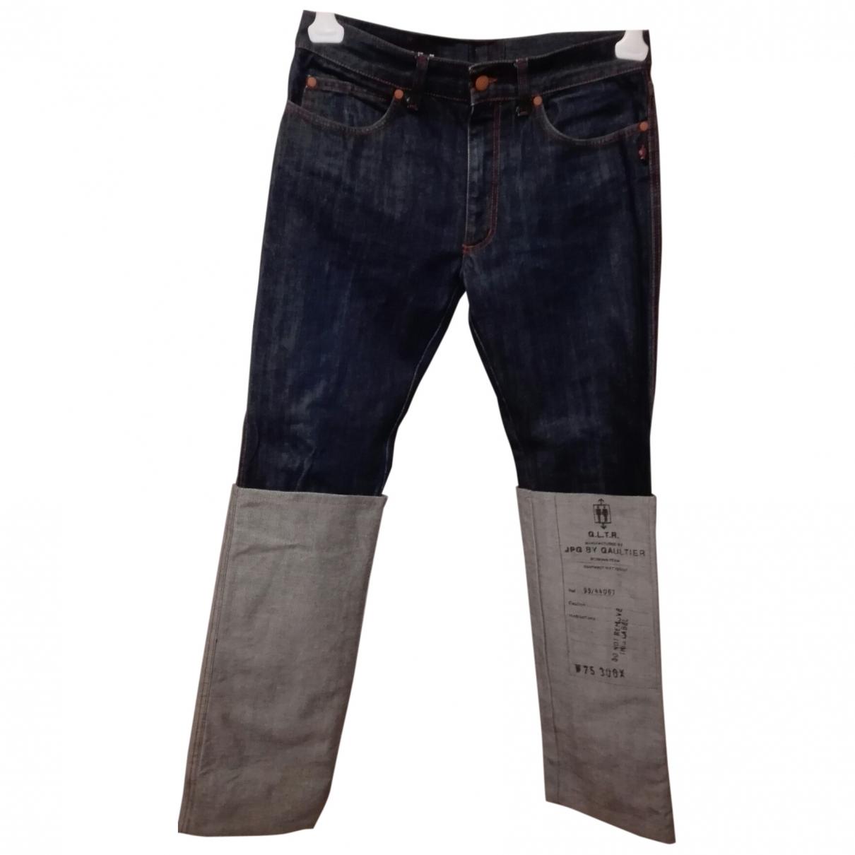 Jean Paul Gaultier \N Blue Cotton Jeans for Men 31 US
