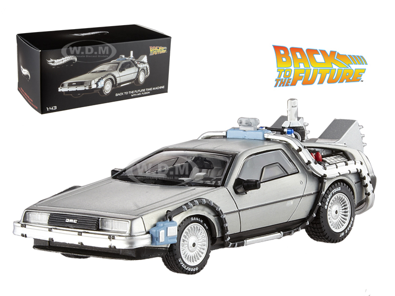 Delorean DMC-12 Back To The Future Time Machine With Mr. Fusion 1/43 Diecast Model Car by Hotwheels