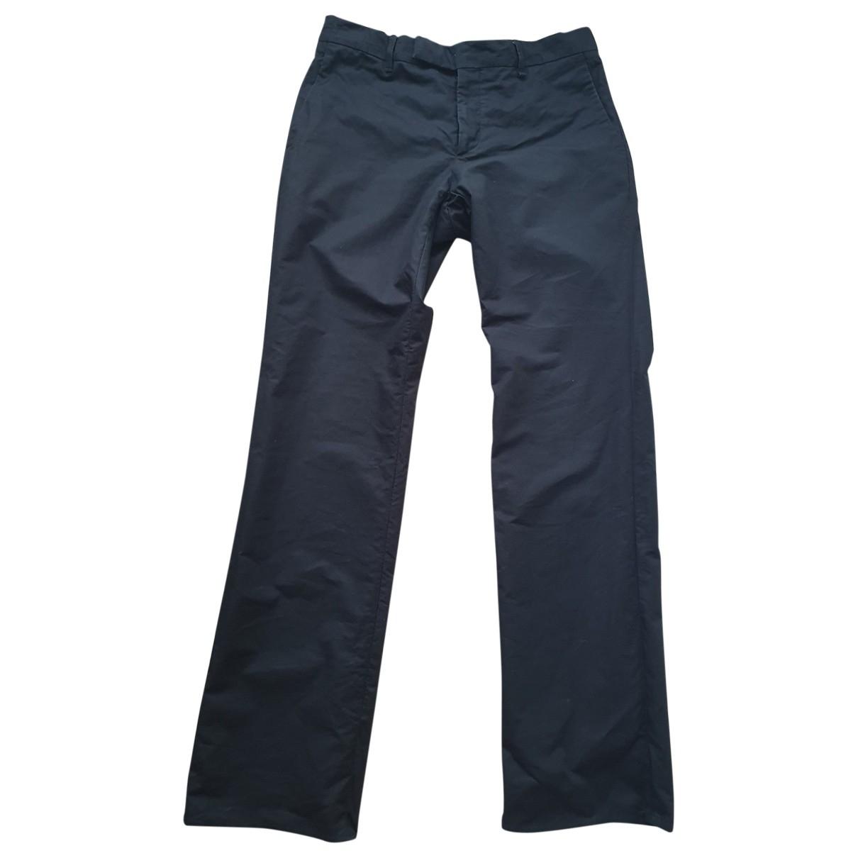 Viktor & Rolf \N Black Cotton Trousers for Men L International