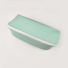 1pc Plain PU Pencil Bag