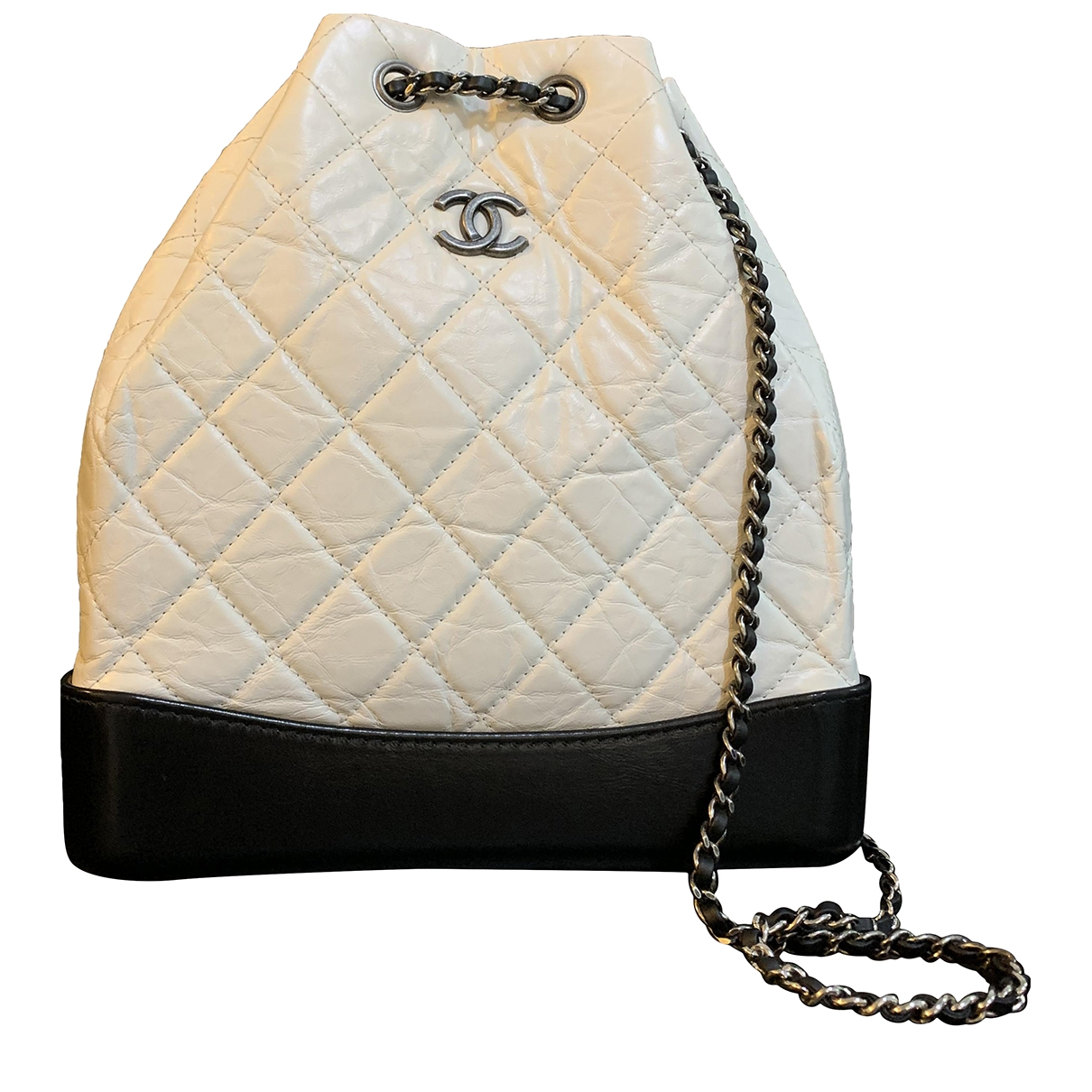 Chanel Gabrielle White Leather backpack for Women \N