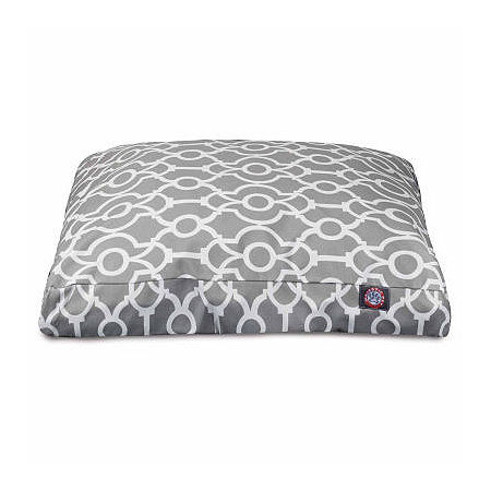 Majestic Pet Athens Rectangle Pet Bed, One Size , Gray