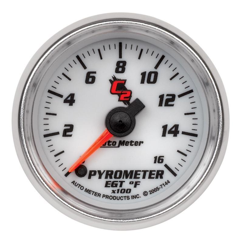 AutoMeter GAUGE; PYROMETER (EGT); 2 1/16in.; 1600deg.F; DIGITAL STEPPER MOTOR; C2