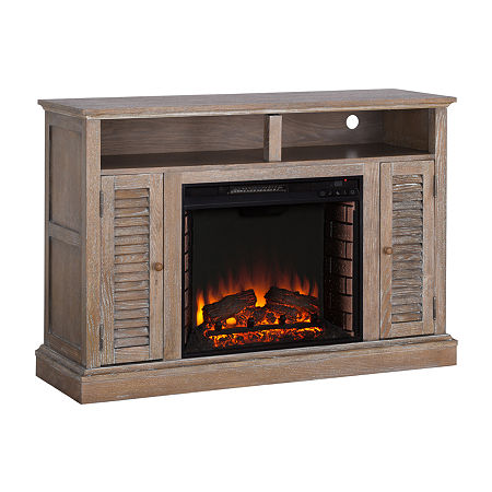 Alger Electric Fireplace, One Size , Brown