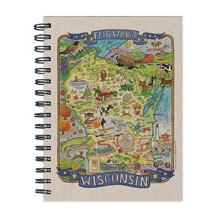 Tf Publishing Wisconsin State Map Journal, One Size , Multiple Colors