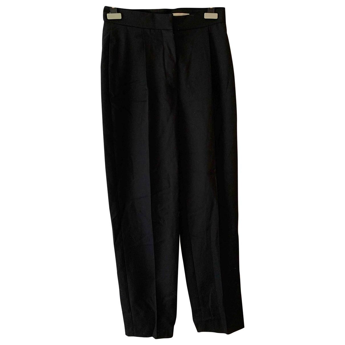 Stella Mccartney \N Black Wool Trousers for Women 36 FR