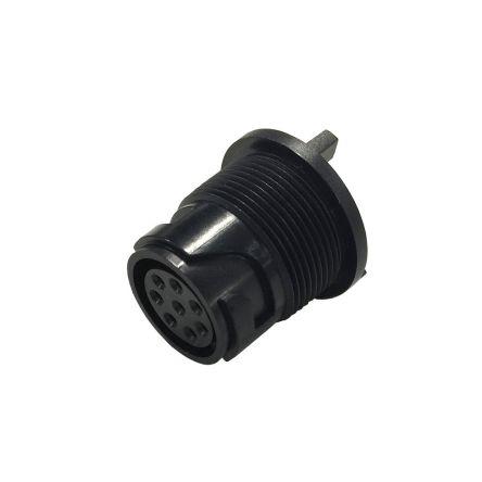 Bulgin Connector, 2 contacts PCB Mount Miniature Plug, Solder IP66, IP68, IP69K (5)