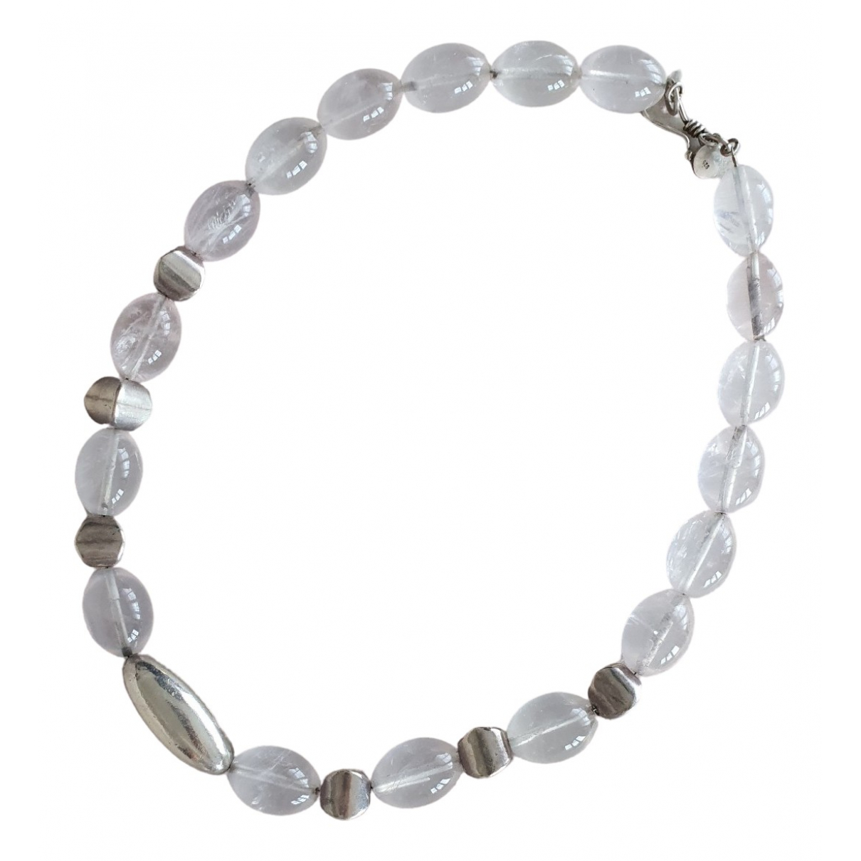 Non Signé / Unsigned \N Pink Pearls necklace for Women \N