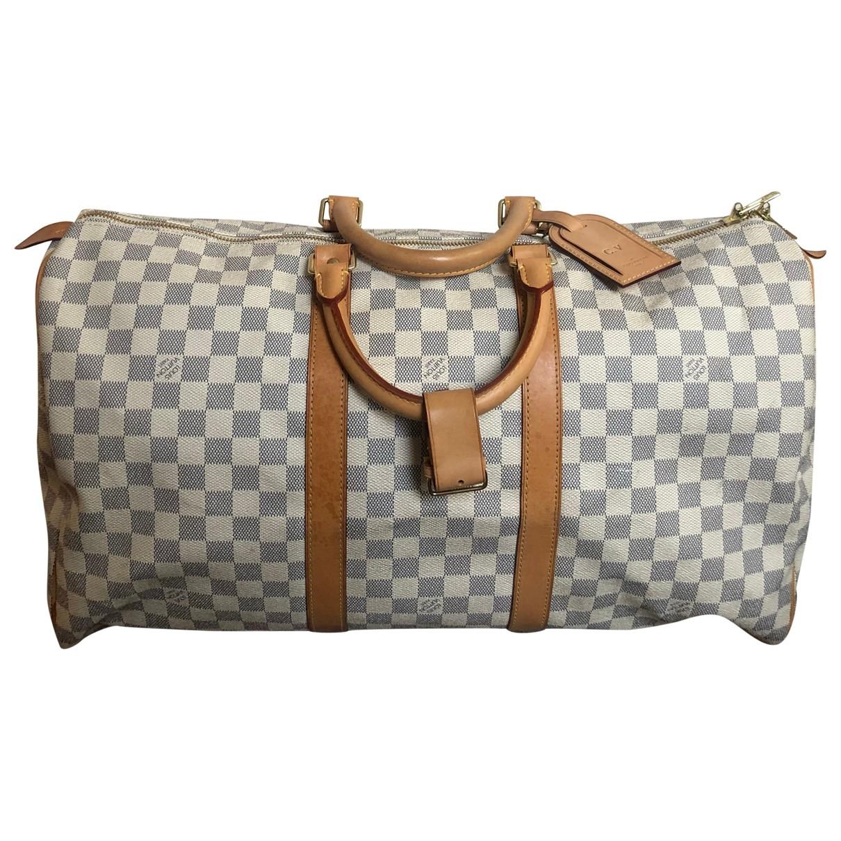 Louis Vuitton Keepall White Cloth Travel bag for Women \N