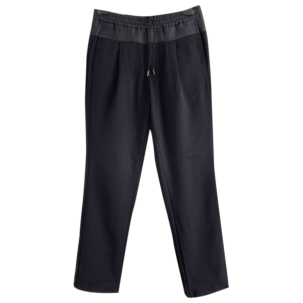 Emporio Armani \N Blue Wool Trousers for Men 44 IT