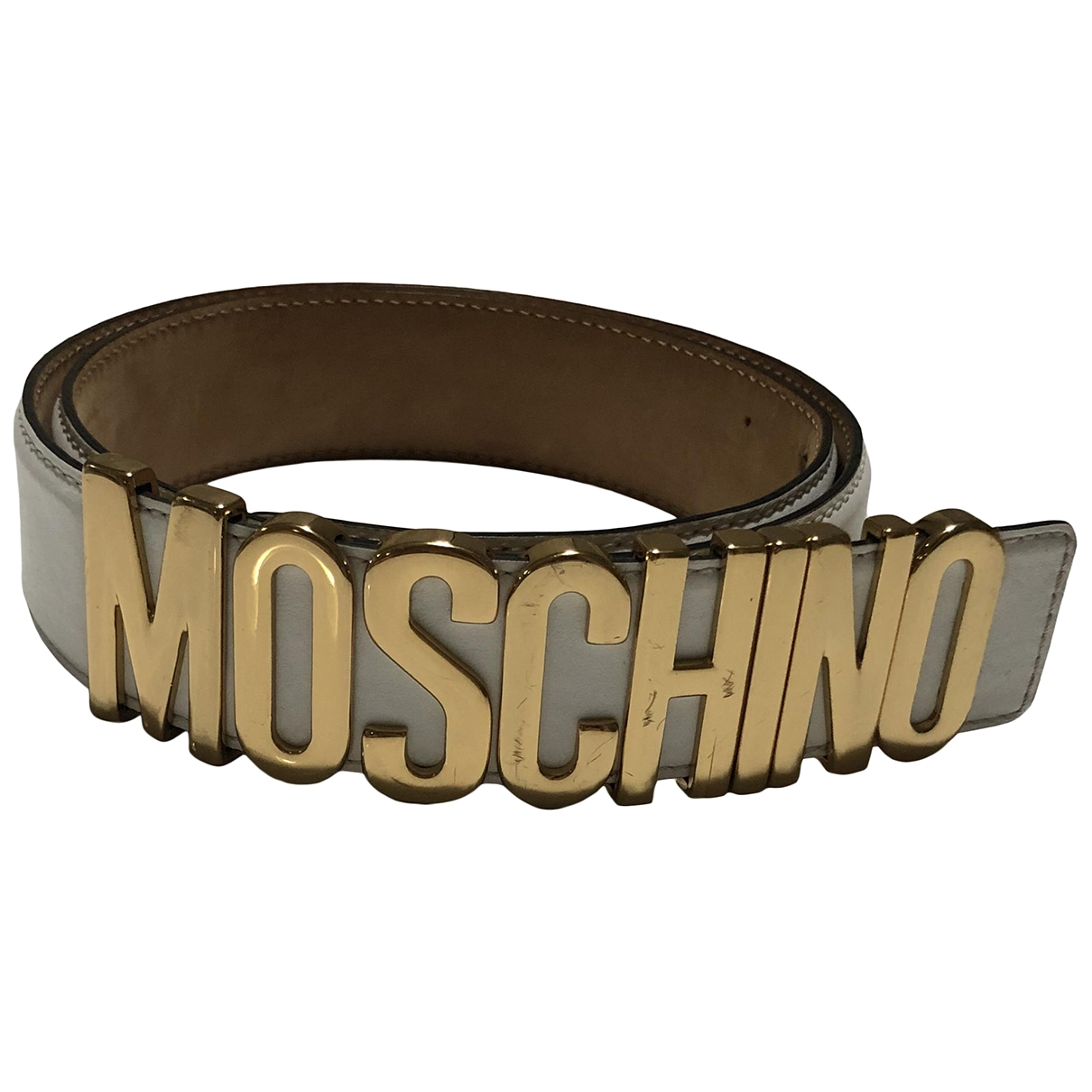 Moschino \N White Leather belt for Women M International