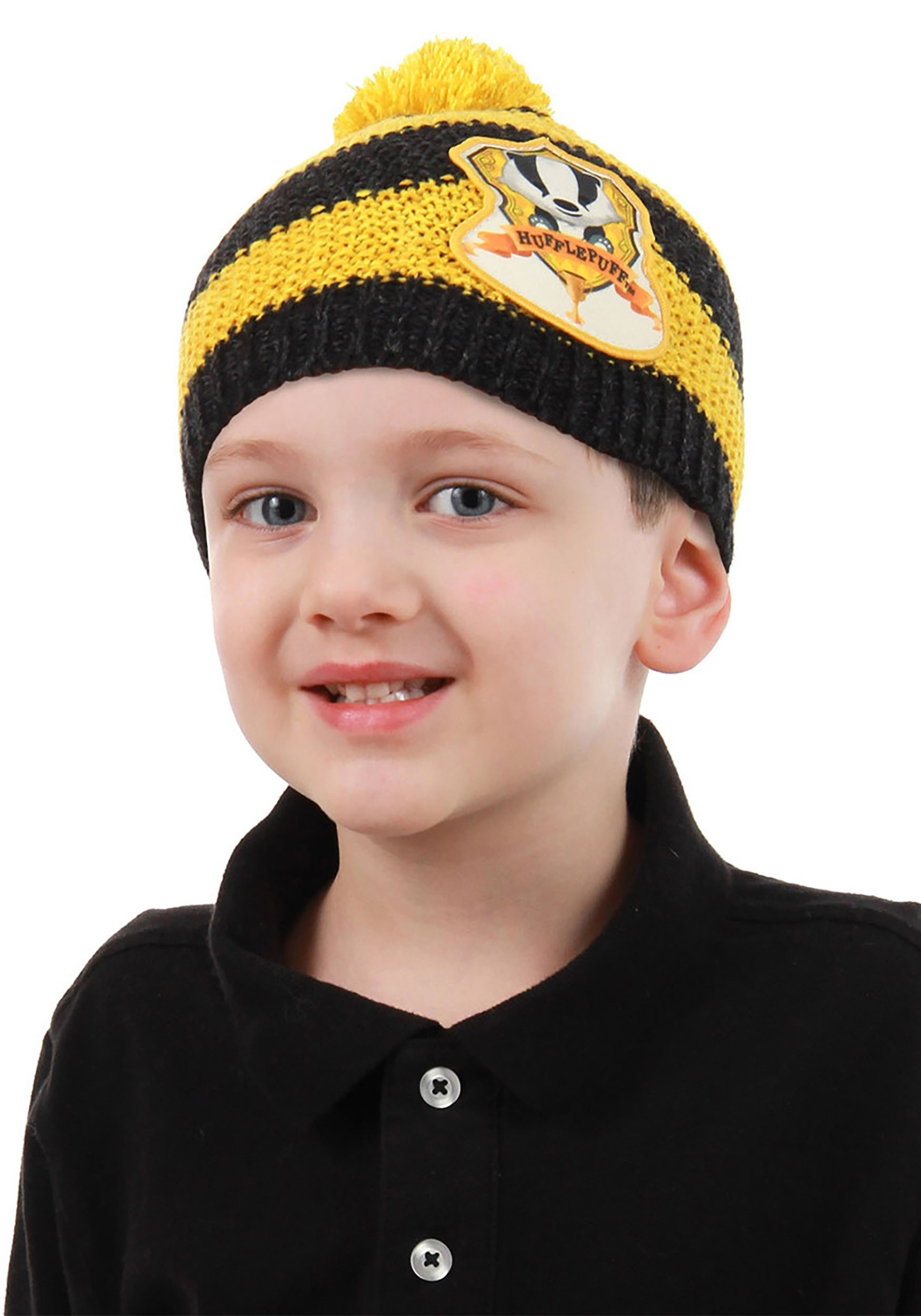 Hufflepuff Knit Warm Beanie for Toddlers