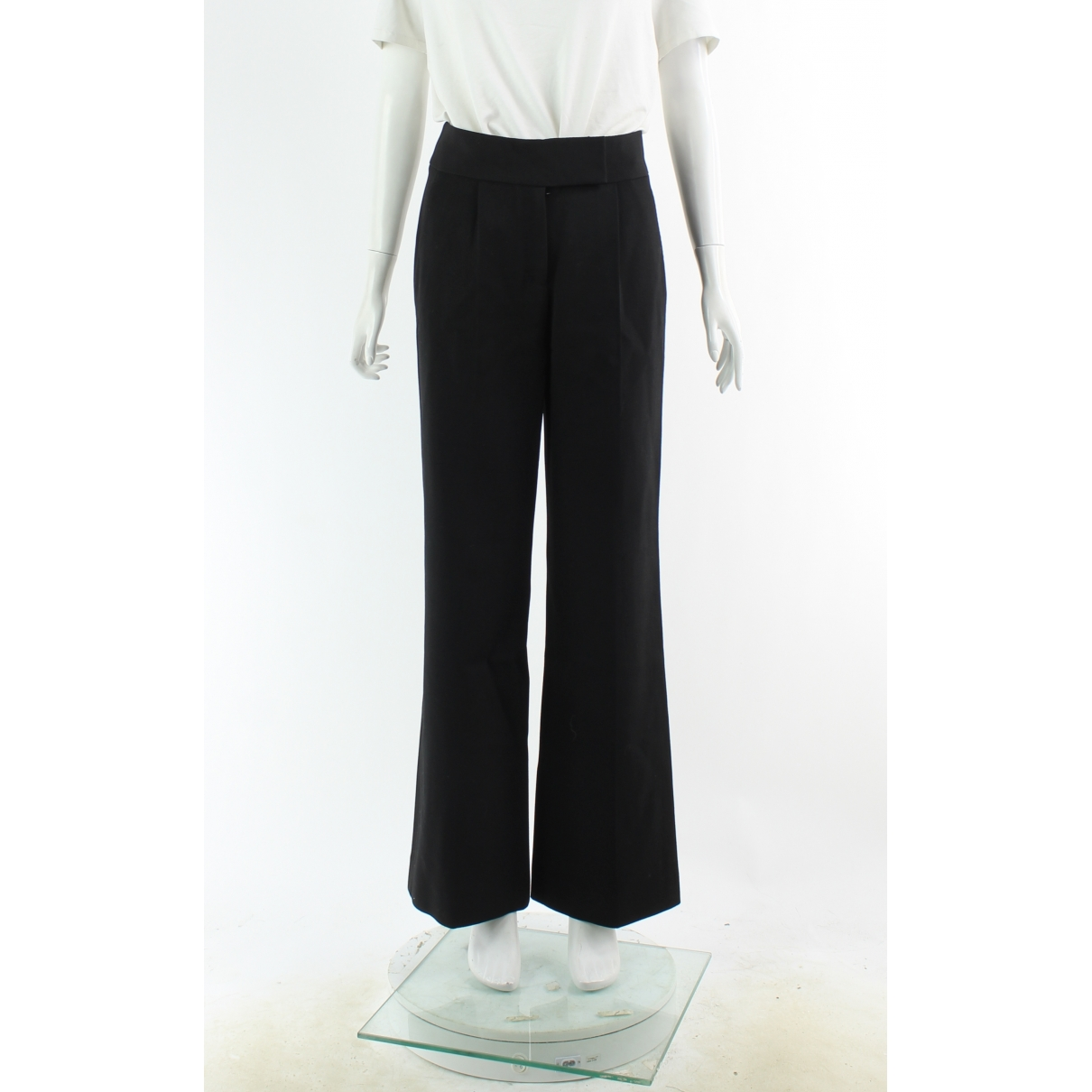 Salvatore Ferragamo \N Black Wool Trousers for Women 40 IT