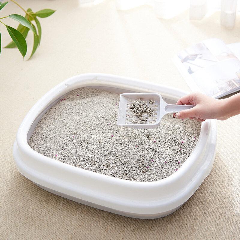 Pet Litter Box Semi-closed Detachable Anti-splashing Cat Toilet To Send Cat Sand Shovel