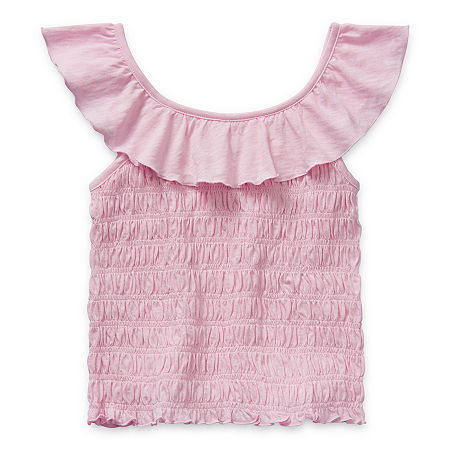 Arizona Little & Big Girls Scoop Neck Tank Top, 2x-large (20.5) Plus , Pink