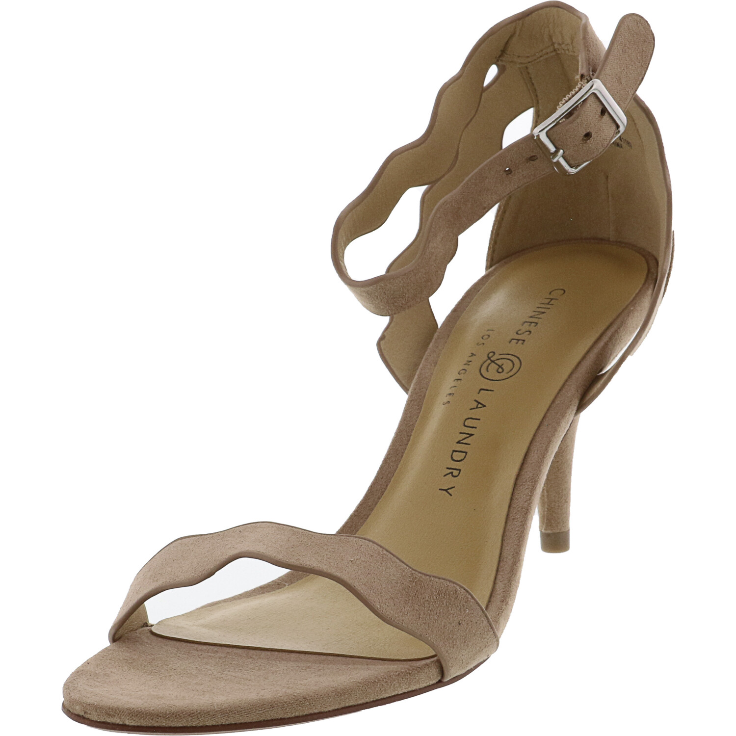 Chinese Laundry Women's Rubie Micro Suede Dark Nude Ankle-High Heel - 6.5M