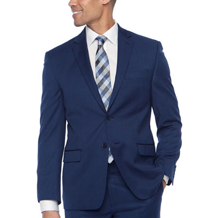 Collection by Michael Strahan Mens Grid Classic Fit Suit Jacket, 46 Short, Blue