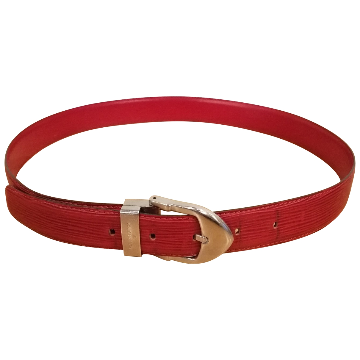 Louis Vuitton \N Red Leather belt for Women 85 cm
