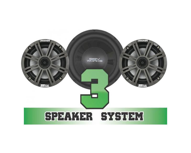 SSV Works RANGER-3K Complete 3 Speaker Kicker System Polaris Ranger RZR XP 900 11-13