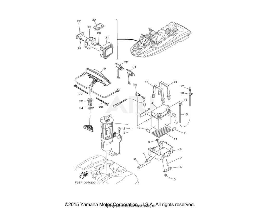 Yamaha OEM 6B6-86261-00-00 XMTR. COMP.